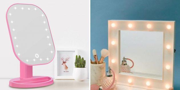 誕生日のためにお母さんを与えるもの:LEDバックライト付きの鏡