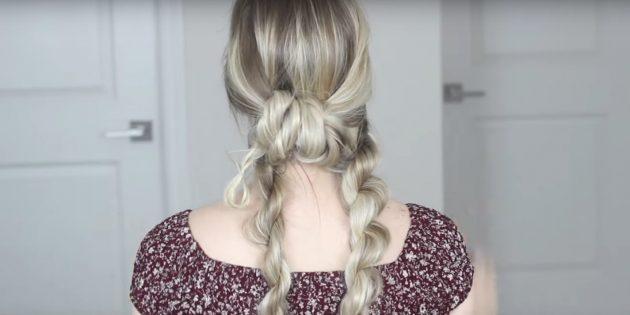 Причёски на длинные волосы: протяните среднюю прядь