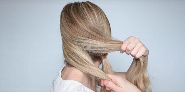Причёски на длинные волосы: разделите одну часть волос