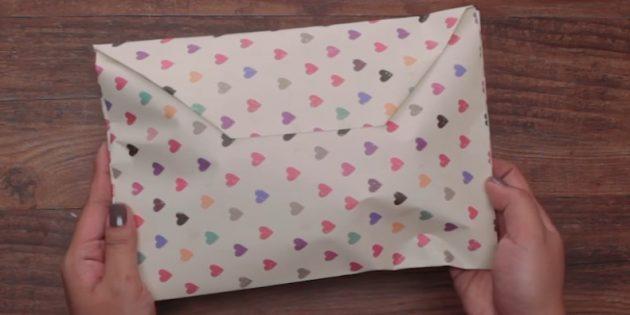 Қағаз конвертіндегі кез-келген пішінді қалай жинауға болады