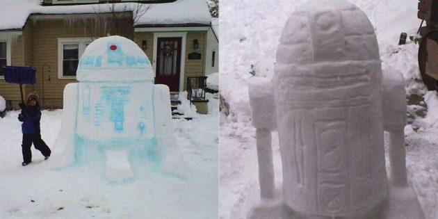 雪数字自己做到这一点:R2-D2