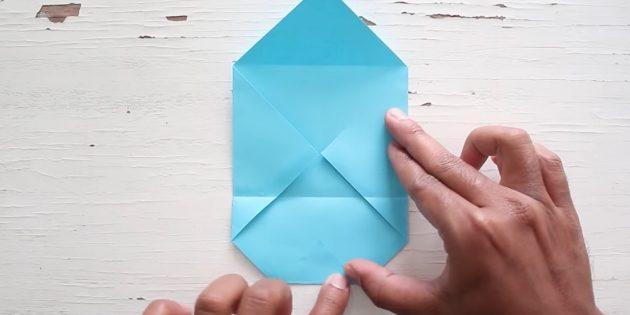 Өз қолыңызбен конверт: бұрышқа ие болыңыз