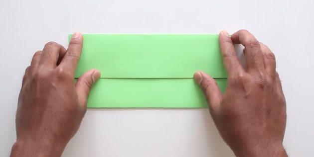 Өз қолыңызбен желімсіз конверт: жоғарғы бөлігін жасаңыз
