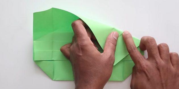 Өз қолыңызбен конверт желімсіз: оң жақтан жасаңыз және иілуді жоғарыдан қалпына келтіріңіз