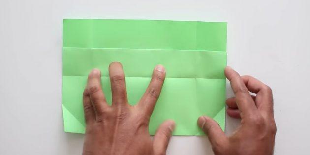 Өз қолыңызбен конверт желімсіз: төменгі бөлігін сындырыңыз