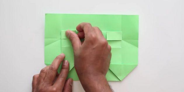 Tutkal olmadan kendi ellerinizle zarf: Kağıdı ön tarafta bükün
