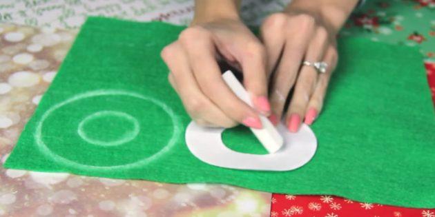 Joulukuusi lelut tekevät sen itse: Tee malli ja ympyrä