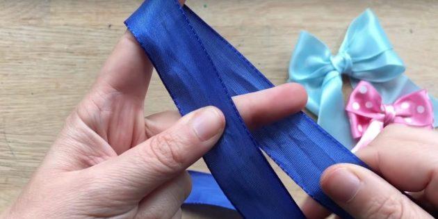 Paano itali ang isang bow: I-wrap ang iyong mga daliri laso