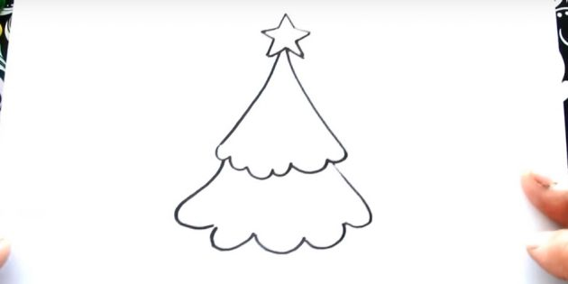 Рождество ағашын қалай салуға болады: Екінші деңгейлі қосыңыз
