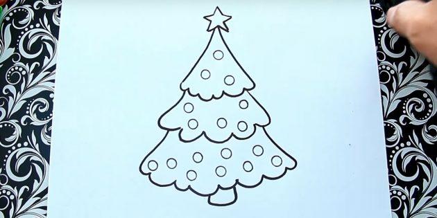 Рождество ағашын қалай салуға болады: шарлар қосыңыз