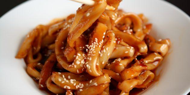 Соя тұздығы бар маринадталған кальца: қарапайым рецепт