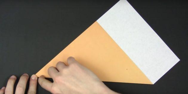 Bagaimana untuk membuat kertas salji kertas: potong persegi