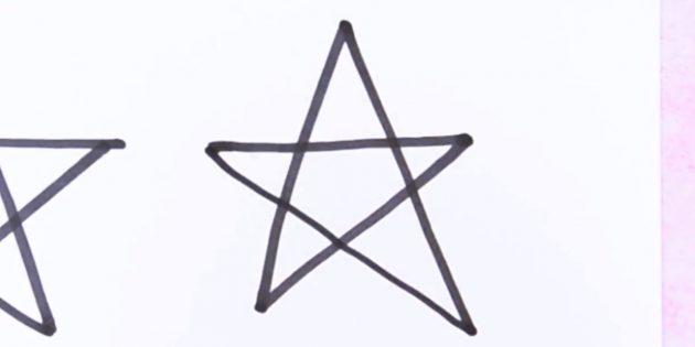 종이에서 손을 잡지 않고 별을 그리는 법