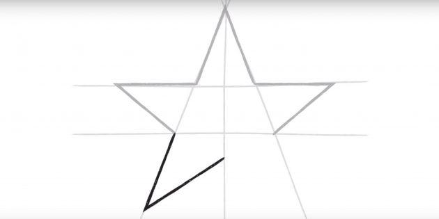 스타의 네 번째 꼭대기를 그립니다