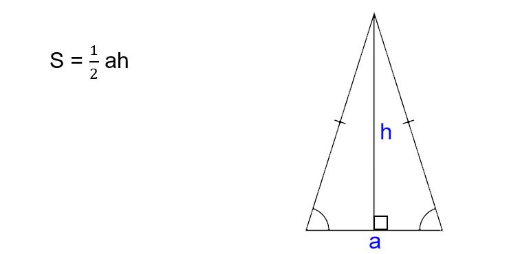 समद्विबाहु त्रिभुज का क्षेत्रफल कैसे ज्ञात करें