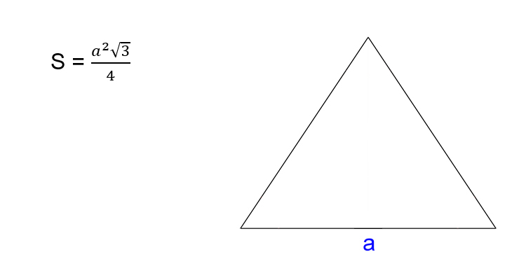 Bagaimana mencari luas segitiga sama sisi
