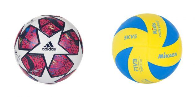 Ragazzo del regalo: pallone sportivo