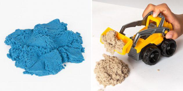 Regali per ragazzi: sabbia cinetica per la modellazione