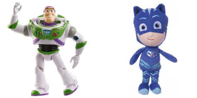 Geschenken voor jongens: speelgoed in de vorm van een held van een cartoon
