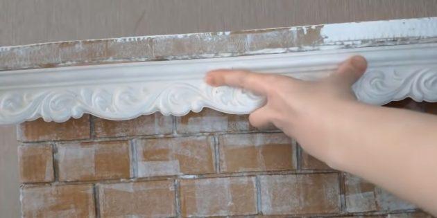 Декоративный камин своими руками: обрамите каминную полку пластиковым плинтусом для потолка