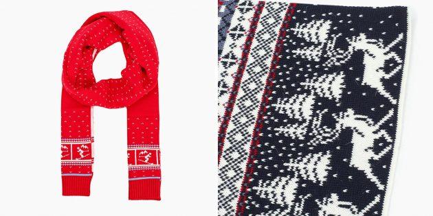 Подарки учителю на Новый год: Тёплый шарф