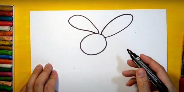 Sådan tegner du en hare: Sæt dine ører