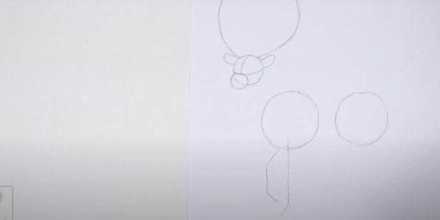 Miten piirtää hirvieläin: Huomaa etujalat