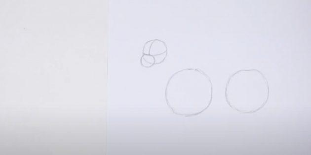 Kuinka tehdä hirvieläin: Piirrä neljäs ympyrä