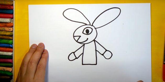 Làm thế nào để vẽ một cái thỏ rừng: Vẽ tay