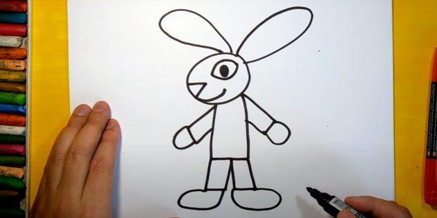 Làm thế nào để vẽ một cái thỏ rừng: Vẽ một bàn chân