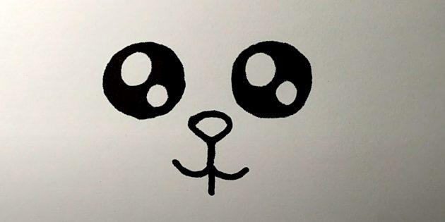 Làm thế nào để vẽ một cái thỏ rừng: Vẽ mũi và miệng của bạn