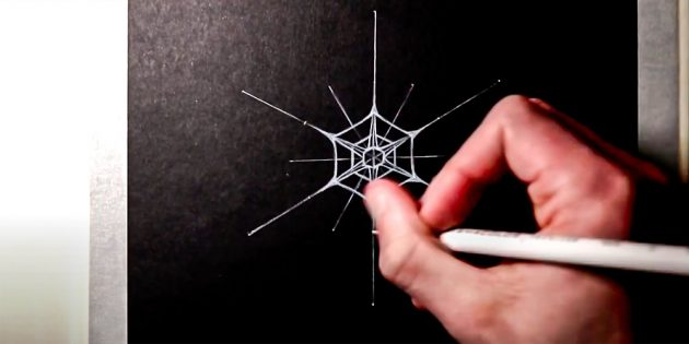 How to draw a snowflake: add one more hexagon