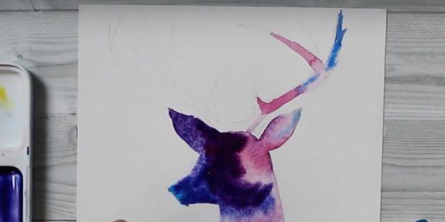 Lisää violetti väri peurapää