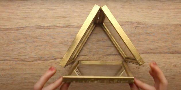Comment faire un chandelier le faire vous-même: coller le cadre
