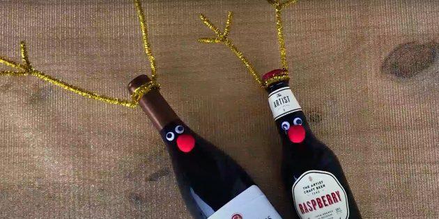 Жаңа жылдық сыйлықтар мұны өзіңіз жасайды: көздер мен сорғыларды жабыңыз