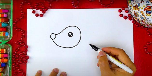 Piirtää hirven silmä