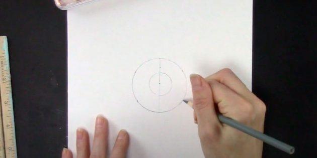 Como desenhar um floco de neve: dê um ponto