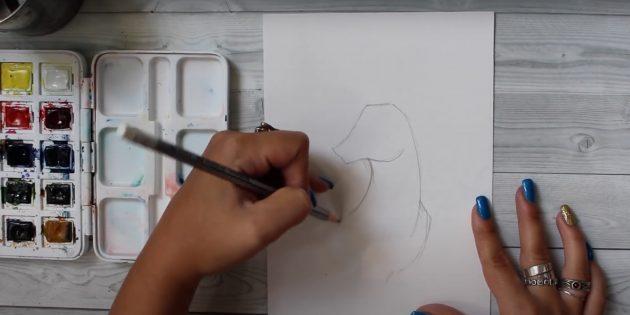 Piirtää kaulan