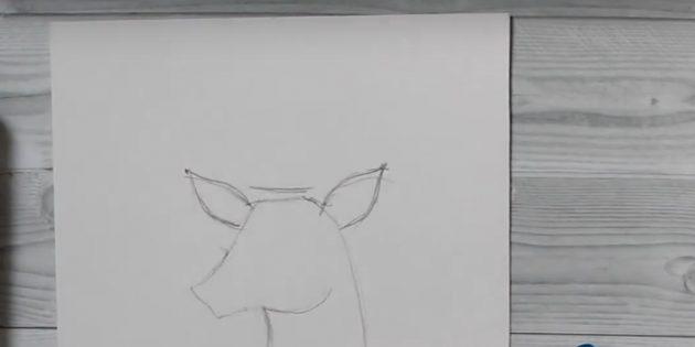 Miten Draw Deer: Piirrä korvat