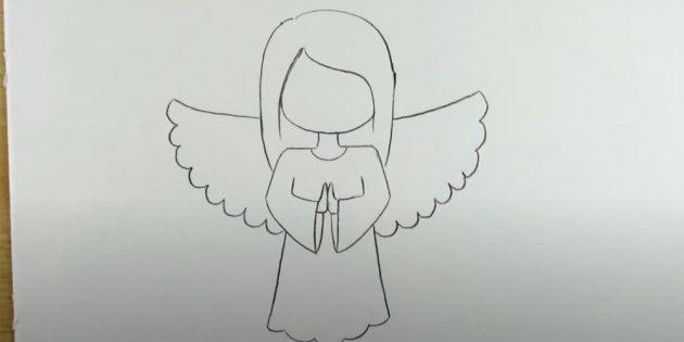 چگونه به رسم فرشته: شانه های عکس و برس دست