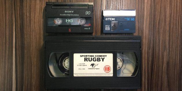 Бейне таспаларды цифрландыру: бейне8 кассеталар (DIGITAL8), Minidv және VHS