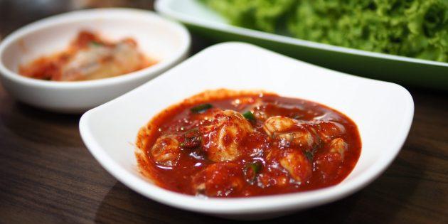 Deoarece există stridii: stridii ascuțite marinate în coreeană