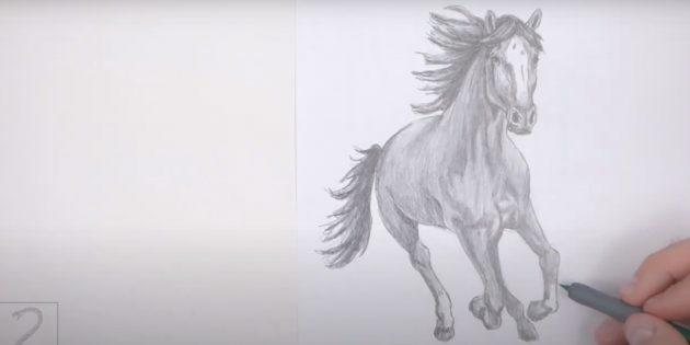 Realistisk løpende hest
