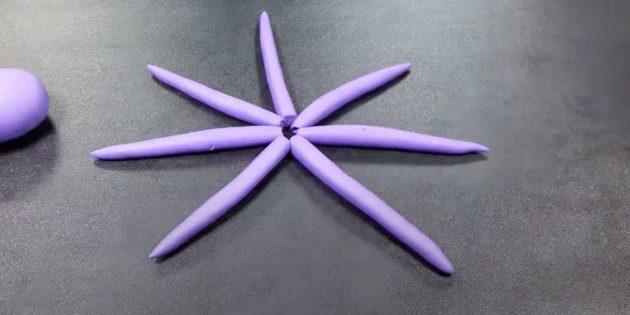 «Октопус» пластилинінен қолөнер: шатырлар жасаңыз