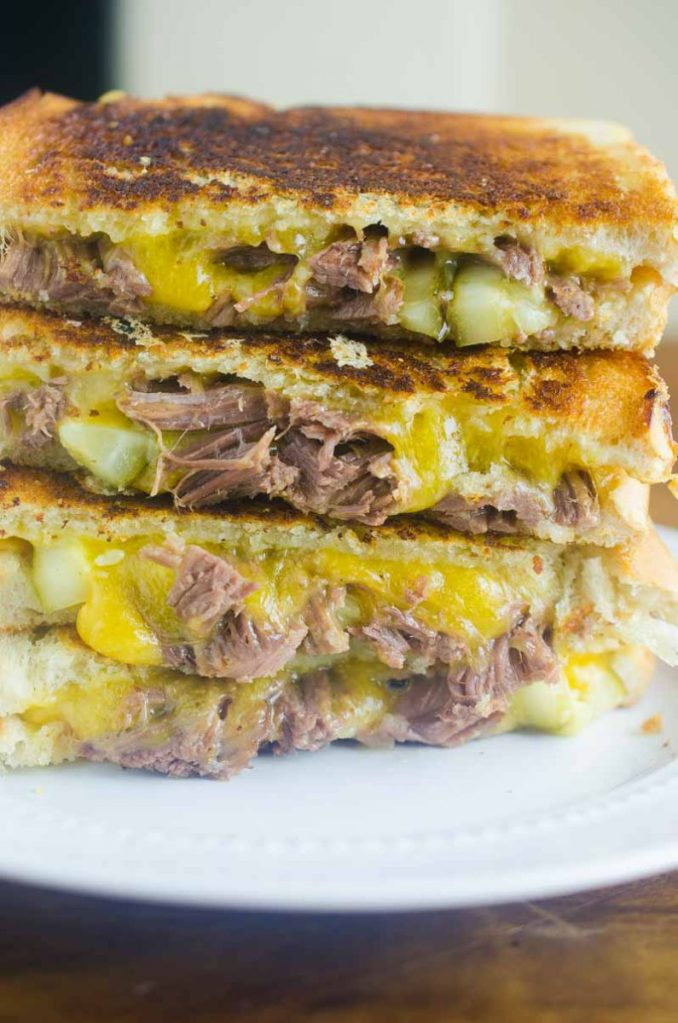 Pot Roast Grilled Cheese - Life's Ambrosia