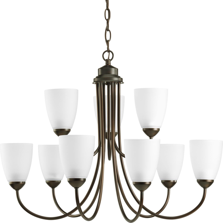 p4627 20 progress lighting nine light chandelier gather gadsden lighting