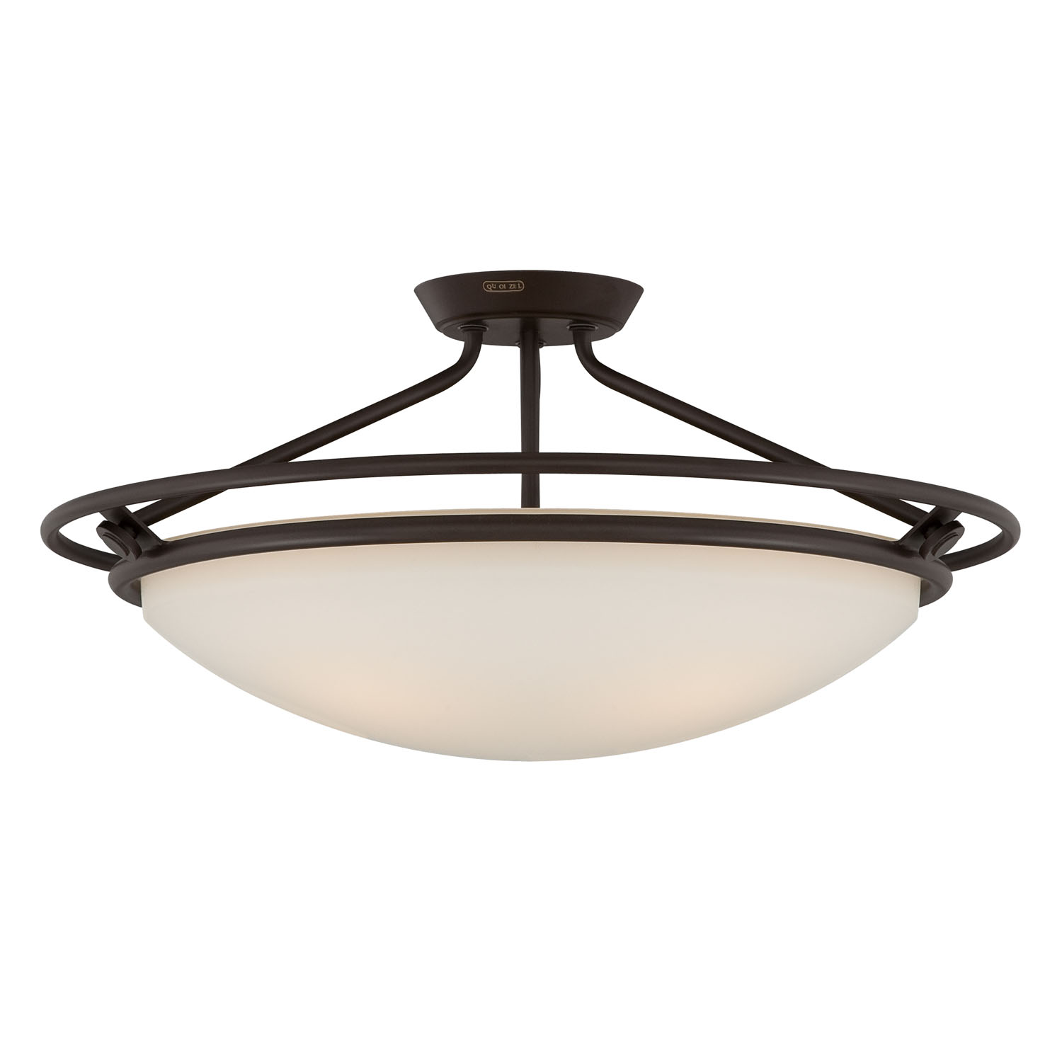 quoizel four light semi flush mount in western bronze from the ashland collection qf1201swt