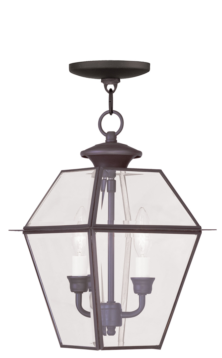two light outdoor chain lantern from the westover collection by livex lighting 2285 07