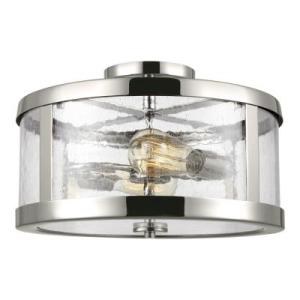 Cardello Lighting Murray Feiss   SF341PN   Harrow   Two Light Semi Flush Mount   Polished  Nickel