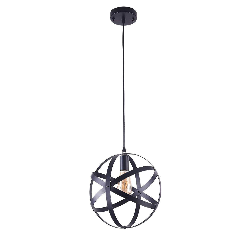 12 Industrial Metal Globe Mini Pendant Lighting Ceiling